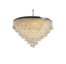 "AM4500: Clear Golden Murano Glass Drop Chandelier (14""-30"" W x 10""-18""H)... - $890.00"