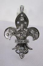 New women fashion silver metal scarf necklace pendant charm fleur de lis... - £9.82 GBP