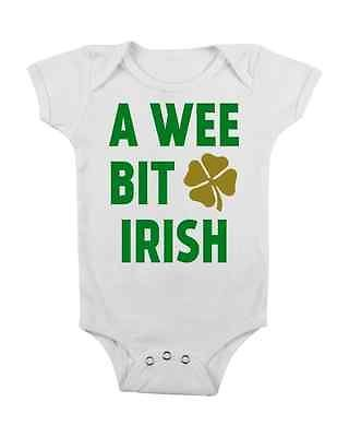 1da93ec71 IRISH BABY ONESIE WEE BIT IRISH FUNNY ONESIES #BABYCLOTHES ST. PATTYS DAY  GIFTS