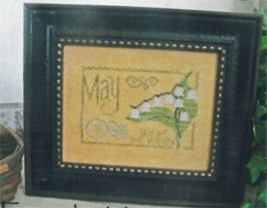 May Lily Of The Valley Floral Postcard cross stitch chart From The Heart  - $5.00