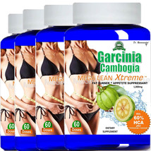 4X Pure Garcinia Cambogia Extract MAX 1000mg Natural Weight Loss 60% HCA  - $29.99