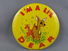 Vintage Celluloid Pin - I'm a Little Dear - Large Pin - $15.00