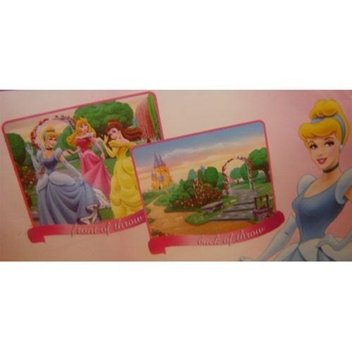 Princess Reversable  Blanket & Cinderella Castle Clock