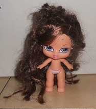 Vintage 2001 MGA MINI Bratz Doll #6 Nude Brown Hair - $9.50