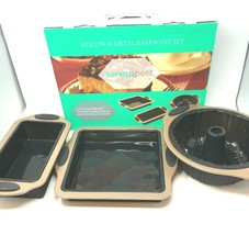 New in Box 3 Piece Set of Servappetit Silicone & Metal Bakeware - $19.75
