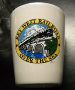 Key West Railroad Shot Glass White Ceramic Body Abandoned Over The Seas ... - $6.99