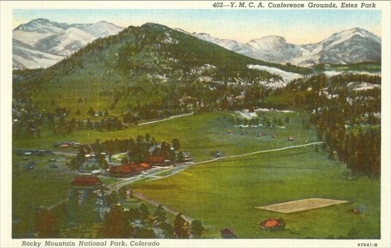 YMCA Conference Grounds, Estes Park, Colorado 1920s unused Postcard