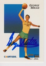 George Mikan Signed Autographed 1992 Courtside Basketball Card - DePaul ... - $29.99