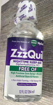 Vicks ZzzQuil Nighttime Sleep Aid Soothing Berry Flavor Liquid Expires 0... - $12.88