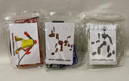 Lot De 3 Hasbro Stikfas : Pompier Homme Chien non Réalisé Figurine Pièces 2004 - $37.29