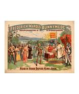 Robin Hood Defies King John, Antique Theater Poster - $26.72+