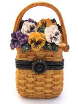 "Boyds Treasure Box ""Ima's Tiny Tote"" #392136LB -Longaberger LE- NIB-2003-Retired - $39.99"