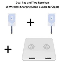 Lucid Smart Qi Wireless Charging Dual Pad / Two Receiver Kit For Apple L... - $79.99