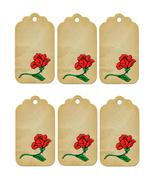 6 Flower Tags30-Download-ClipArt-ArtClip-Digital  - $3.00