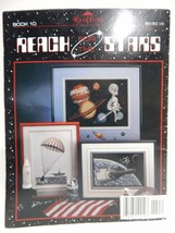 REACH FOR THE STARS SPACE Apollo Voyager Eagle Astronaut CROSS STITCH PA... - $14.84