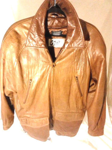 Men`s Vintage CZAR Leather Jacket- Brown