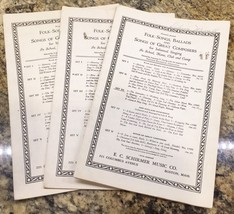 Lot Of 3 Folk Songs Ballads EC SCHIRMER PIANO Vocal SHEET MUSIC - $14.85
