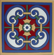 "Old California TOC-13 Decorative Mexican Ceramic Tile 6"" x 6"" - Set of T... - $24.99"