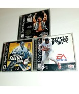 Playstation Sports Games Bundle WWF War Zone Triple Play 98 NHL Face OFF... - $14.85