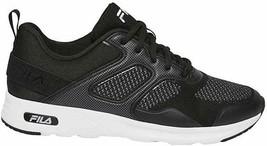 Brand New Women's Fila Black White Memory Foam Frame V6 Athletic Running Shoes image 1