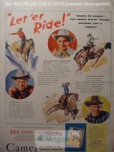 1942 RARE Esquire Advertisement AD CAMEL Cigarettes all round cowboy FRITZ TRUAN - $8.00
