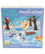 Floor Jigsaw Puzzle Flurries of Fun!  24 Huge Pcs. for Small Hands  Ages... - $9.99