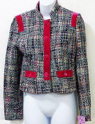 Kenzie Girl juniors multi color plaid jacket coat woven size m/medium NWT