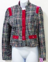 Kenzie Girl juniors multi color plaid jacket coat woven size m/medium NWT - $22.76