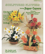 SCULPTURED FLOWERS WITH PAPER CAPERS IRIS, ORCHIDS FLORAL DESIGNS NAPIER... - $7.98
