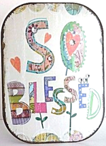 """Rustic Antique Style Metal Jewel """"So Blessed"""" Plaque Sign Decor - $14.00"""
