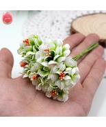 6pcs Silk Gradient Stamen Artificial Flowers Handmade Bouquet For Weddin... - $0.92