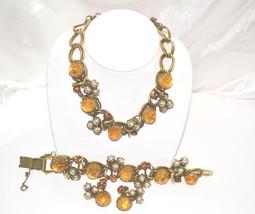Dior Attributed Vintage Matching Necklace Bracelet Earring Set - $589.00