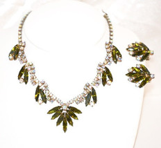 Vintage DeLizza and Elster Matching Necklace Earrings Set Juliana - $145.00