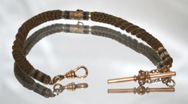 Antique Victorian Table Worked Hair Watch Chain c1860 - £148.92 GBP