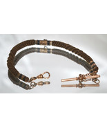 Antique Victorian Table Worked Hair Watch Chain c1860 - $195.00