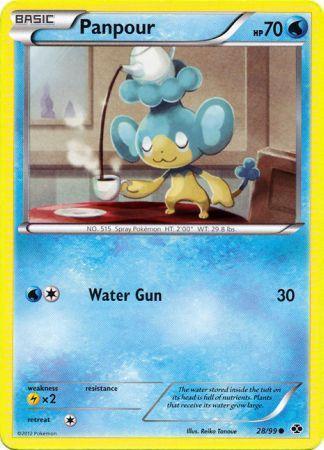 Panpour 28/99 Common Next Destinies Pokemon Card