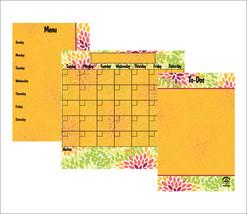 Dry Erase Calendar, Magnetic Refrigerator Calendar, Family Command Center. - £15.53 GBP+