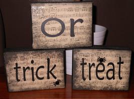 Halloween Trick or Treat wood blocks - $19.95