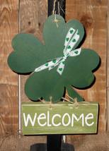 St. Patrick's Day Solid Wood Shamrock... Hangin... - $23.95