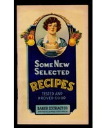 Baker Extract Recipes Advertising Brochure 1920s Vintage Food Paper Coll... - $14.99