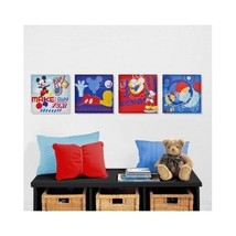 Disney Mickey Picture Wall Canvas Set 4 Bedroom Nursery Class Decor Child Gifts - $51.34