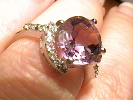 COCKTAIL AMETHYST SILVER sapphire WHITE 18K GOLD  FANCY STERLING 925 ELE... - $60.60