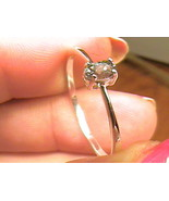 Russian Alexandrite Ring 9 SILVER gem color change sterling 925 SMALL DE... - $88.65