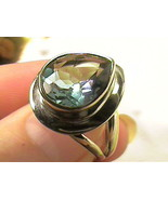 Russian Alexandrite Ring SILVER color change 8 STERLING SILVER ALEXANDRI... - $88.65