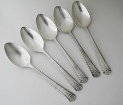 Vtg 1933 Simeon Rogers Oneida Silverplate -Thor- Teaspoons Set/5  #1994 - $23.00