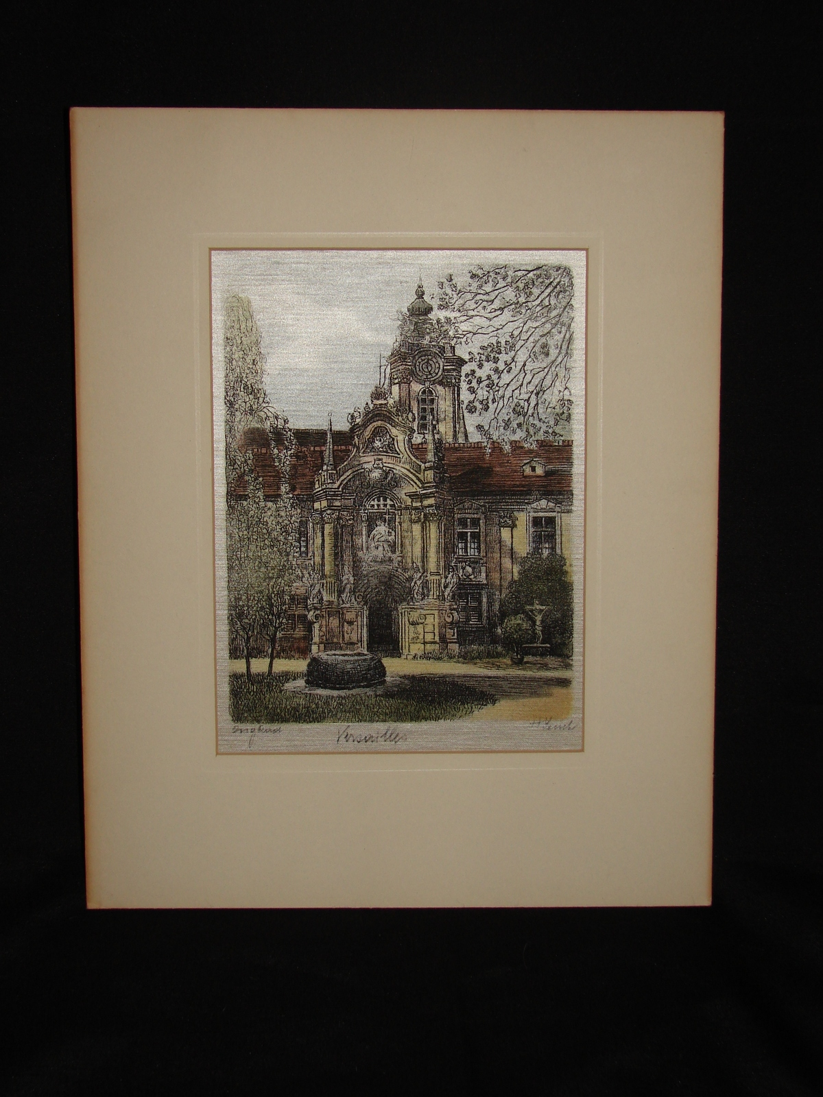 "Primary image for Original Austrian Silk Etching by H. Leisch ""Versailles"""