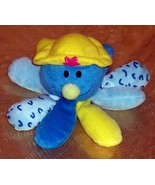 Soft Plush Little Lady Blue & Yellow Octopus-Like Baby Leap Frog-Fun & Safe - $3.99