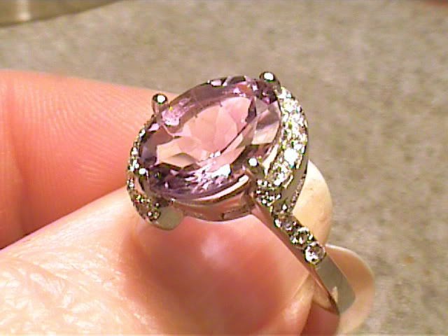 COCKTAIL AMETHYST SILVER sapphire WHITE 18K GOLD  FANCY STERLING 925 ELEGANT WO