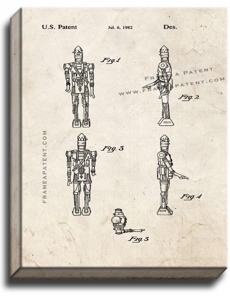 Primary image for Star Wars IG-88 Patent Print Old Look on Canvas