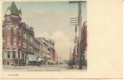 Primary image for Citizens National Bank Main Street Towanda Pennsylvania Vintage Post Card